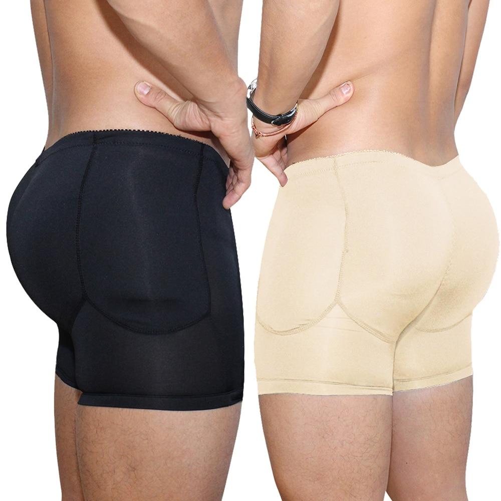 Padded panties for men sexy Butt Lifter Control Panties Seamless Shapewear Bodysuit Full Body Shaper Booty Push Up Underwear Ass
