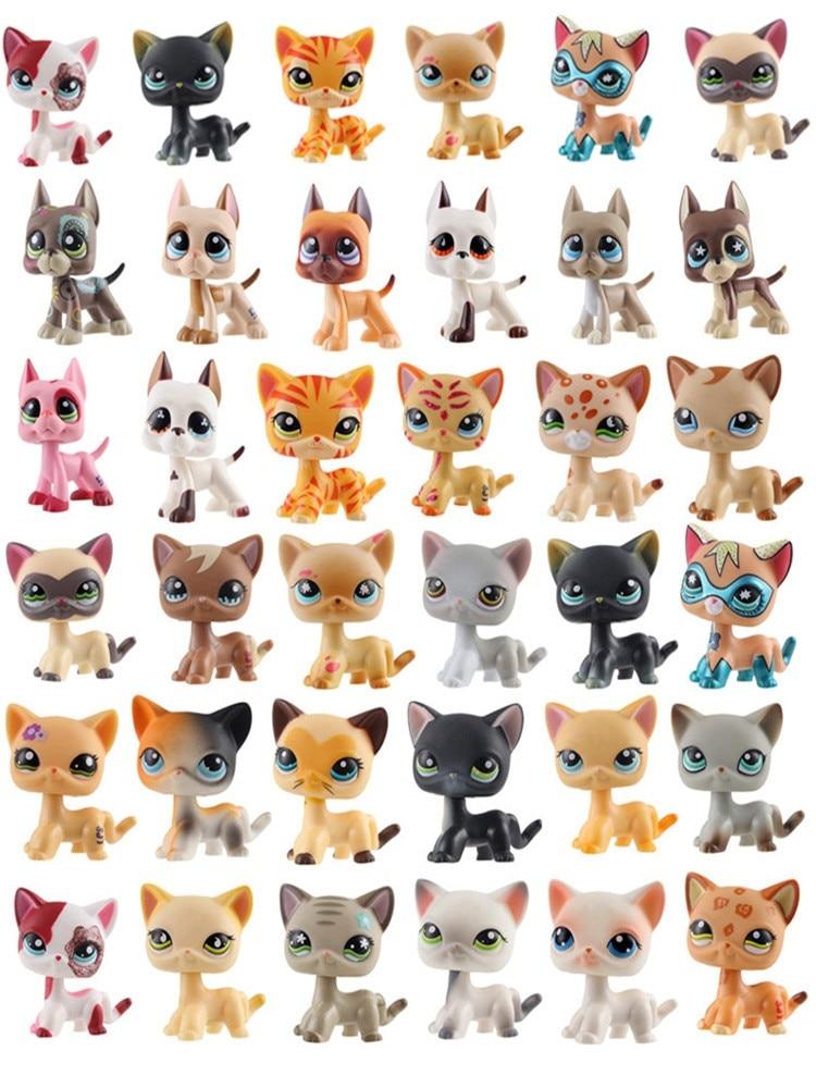 Tienda de mascotas de juguete LPS colección gatos y perros acción Shorthairs Dadan perro salchicha perro Collie lindos juguetes recoger regalos para niños