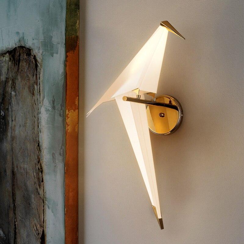 2020 Modern Wall Lamps Bird Nordic creative for living room bedroom bedside lighting bracket High-power led lustre Home Dero