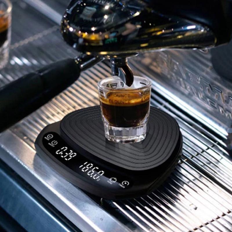 حار بالتنقيط مقياس القهوة مع الموقت المحمولة الالكترونية الرقمية مطبخ مقياس عالية الدقة LED ميزان إلكتروني 2 كجم/0.1G