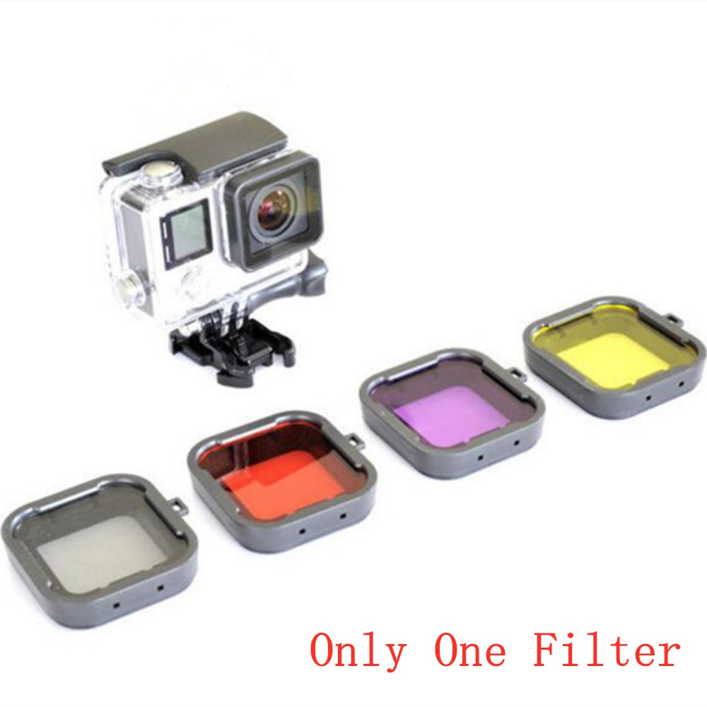 Filtro sumergible lente convertidor de filtro para Gopro Hero 3 +/4 Carcasa impermeable carcasa de montaje 1 ud.