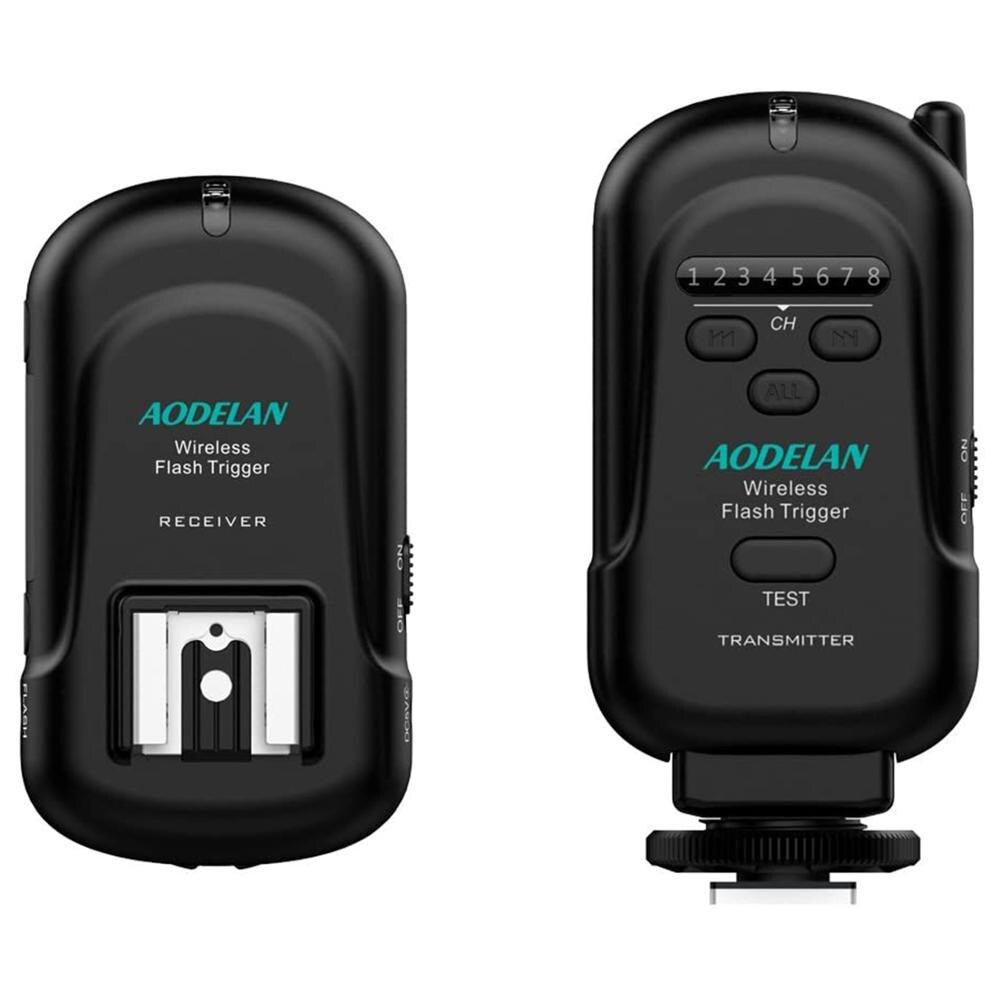 Récepteur émetteur à déclenchement Flash AODELAN avec sabot chauffant universel pour Canon,Nikon,Olympus, Panasonic,Pentax, Fuji,Samsung,Sony