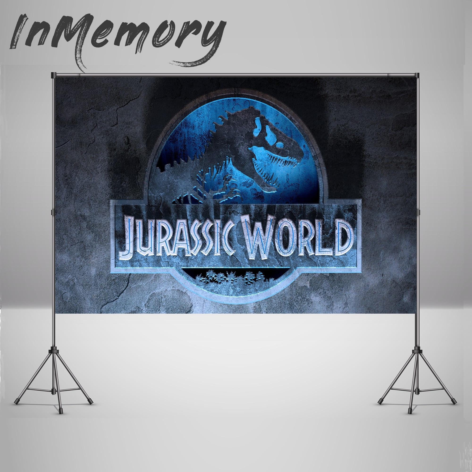Fondo de fotografía del Mundo Jurásico azul dinosaurio Safari selva fiesta telones de fondo con foto para cumpleaños 220x150cm