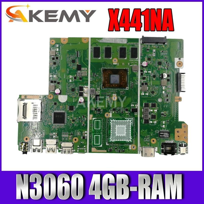 Akemy X441NA ث/N3060 4GB-RAM اللوحة الأم للكمبيوتر المحمول For Asus X441N X441NA F441N لوحة mainboard