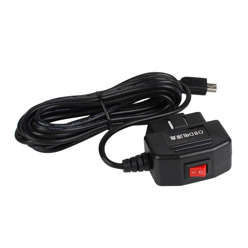 Cámara de salpicadero OBD cargador Mini USB relé interruptor ACC OBD adaptador de corriente de cable duro nuevo