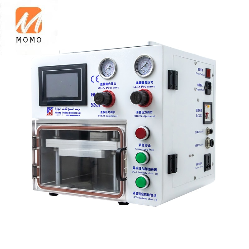 Cell Phone Curved Glass Edge Screen Lcd Vacuum Lamination Machine For S8 S9 S10