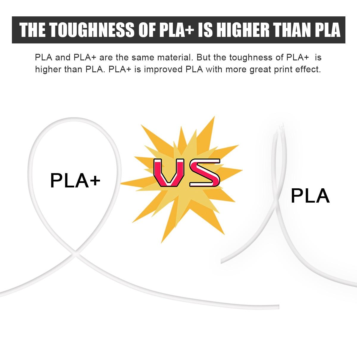 PLA Plus 3D Filament 1kg 5 Rolls 1.75mm 2.2LBS High Toughness PLA+ 3D Printing Material 5kg FDM 3D Printer Filaments Wholesale enlarge