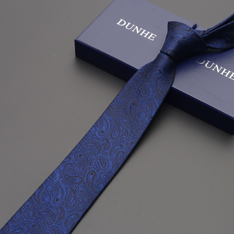 High Quality 2019 New Fashion Ties Men Business 7cm Red Black Stripe Silk Tie Wedding Ties for men Designers Brand with Gift Box