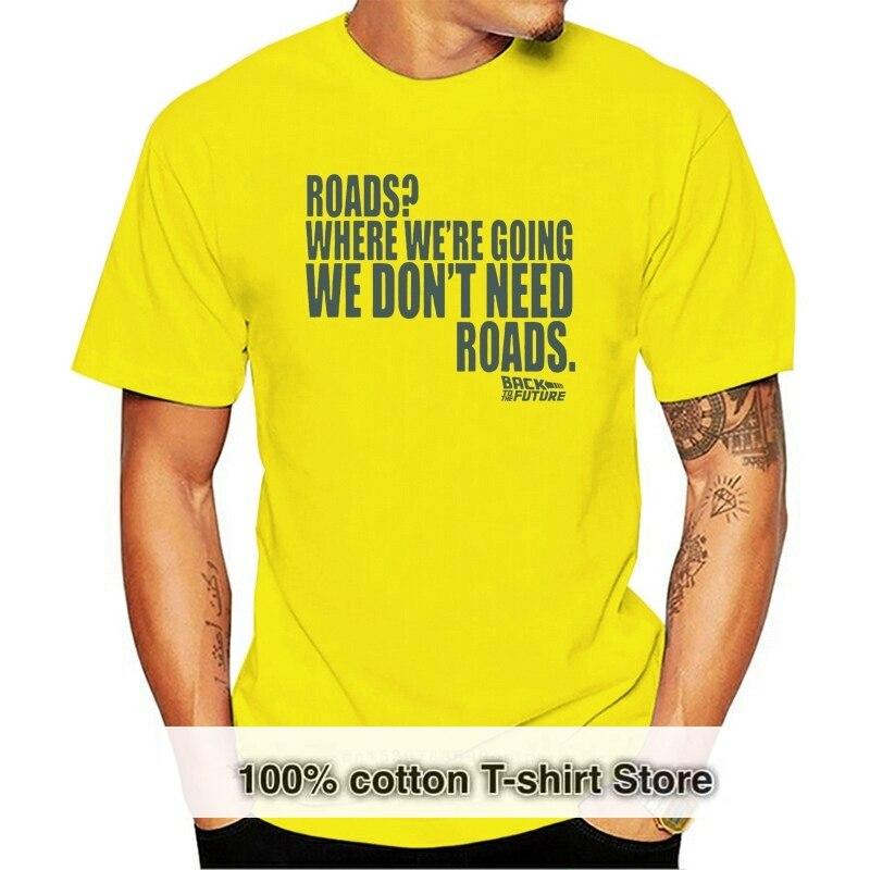 Camiseta de Regreso al futuro-carreteras ropa cuadrada m-de plata