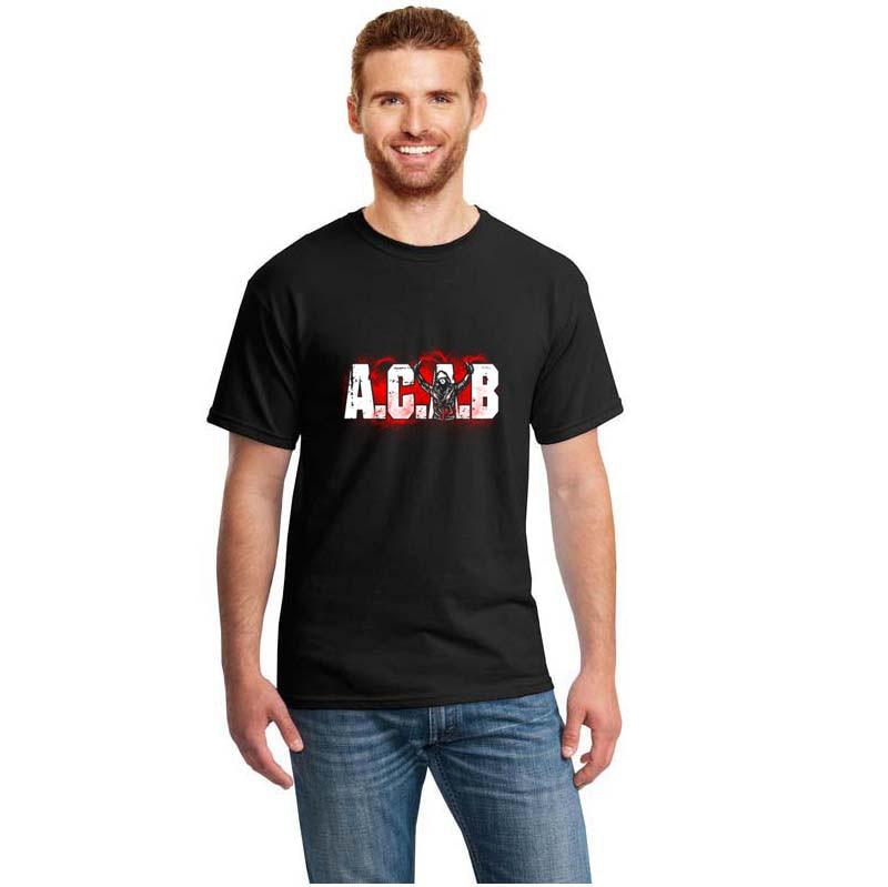Funny Acab Soccer Football Pyro Ultras Hockey Tshirt Cotton Men's T Shirt S~3xl Humorous T-Shirts Girl Boy Tee Tops