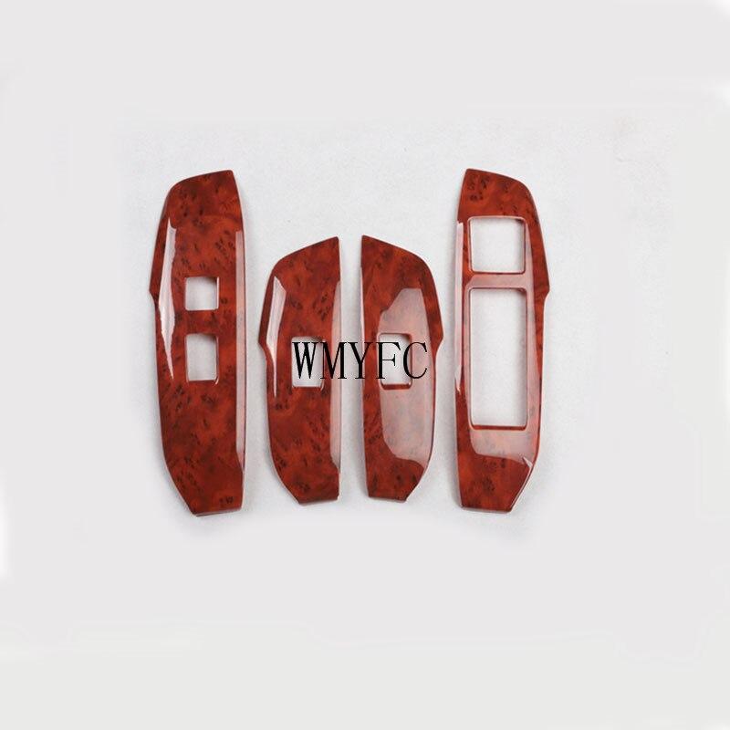 Автомобильный оконный переключатель, крышка кнопки, панель, отделка, внутренний подлокотник, 4 шт., для Lexus NX серии NX300H NX200T 2015-2018, 2019, 2020, аксесс...