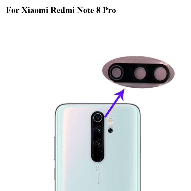 Alta calidad para Xiaomi rojo mi Note 8 pro cámara trasera Lente de Cristal prueba buena para Xiaomi mi Red mi note8 pro partes Note8 pro