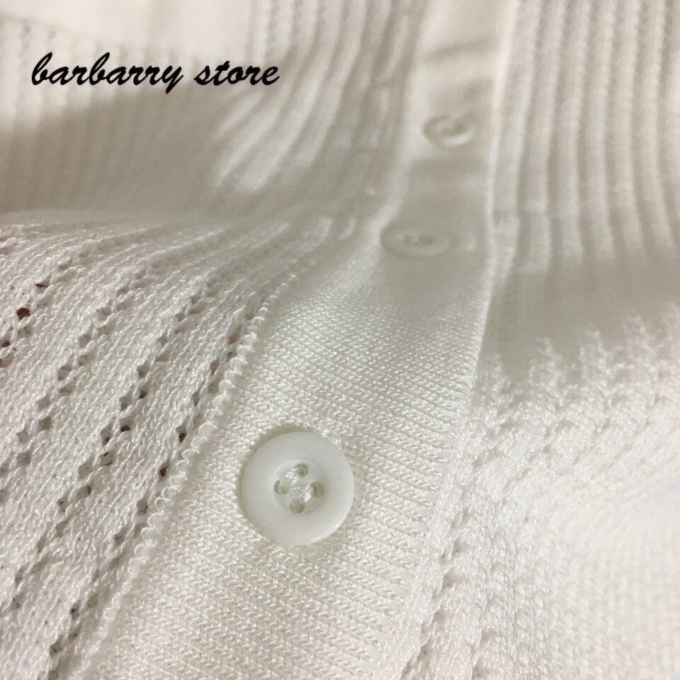 2021 luxury design bee embroidery fashion women's single breasted long sleeved cardigan temperament versatile Lapel knit coat enlarge