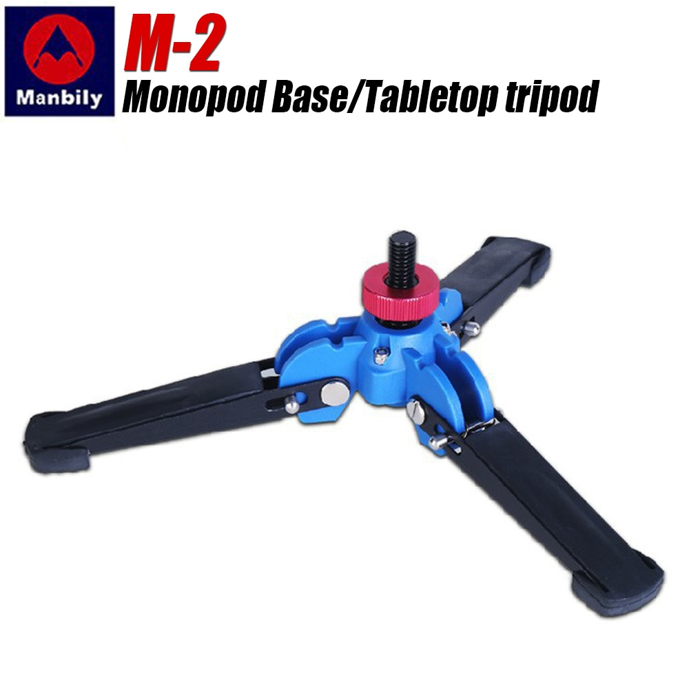 Manbily M-2 منضدية مصغرة ترايبود Monopod حامل قاعدة دعم للفيديو Monopod DSLR كاميرا ترايبود رئيس الهاتف المحمول مع 3/8