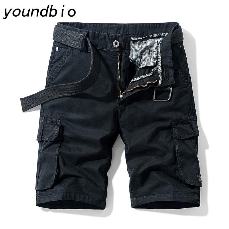 Summer Men Cargo Shorts Casual Cotton Shorts Male Jogger Shorts Mens Brand Clothing Male Loose Work Shorts Man Military Shorts
