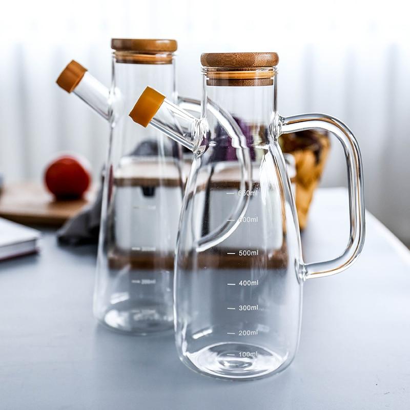 Báscula de aceite a prueba de fugas para el hogar, botella de condimento para bote de salsa de soja, botella de aceite de sésamo, utensilios de cocina, olla medidora WF1105