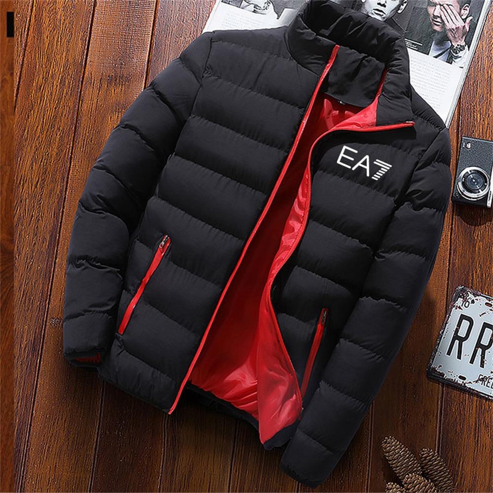 Новая мужская зимняя куртка 2021, модная мужская брендовая куртка с воротником-стойкой, футбольная куртка, Мужская зимняя повседневная куртк...