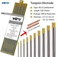 2% Lanthanated tungsten rods WL15 wl20 tungsten electrode 1.0 1.6 2.0 2.4 3.0 3.2 4.0mm gold tig electrodes for tig welding