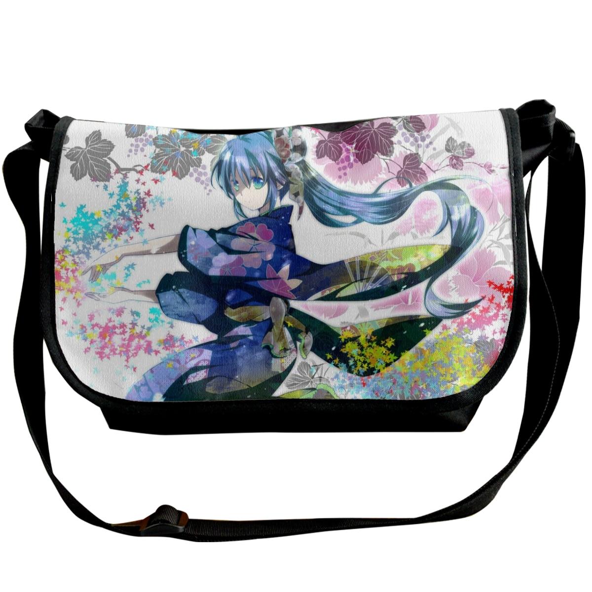 Hefu-008 Fashion Solid Canvas Messenger Satchel Bags Buckle Casual Portable Shoulder Bag