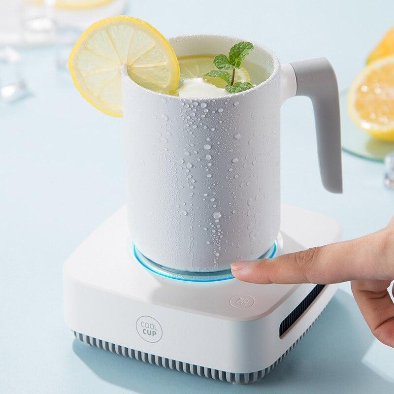2 في 1 كوب دفئا برودة جهاز التبريد السريع Samrt ترموستاتي كوستر كوب التدفئة التبريد المشروبات لوحة للمياه الشاي المشروبات