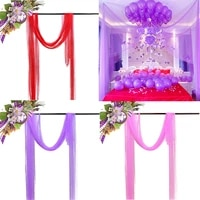 150cm9meters tulle wedding organza roll sheer yarn crystal tulle organza fabric birthday event party decoration redpinkpurple