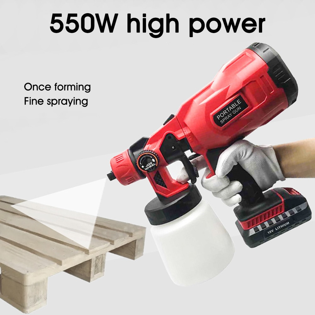 550w Electric Paint Sprayer Household Convenience Spray Paint 3 Nozzles 800ml Regulation High Power Sprayer Cordless enlarge