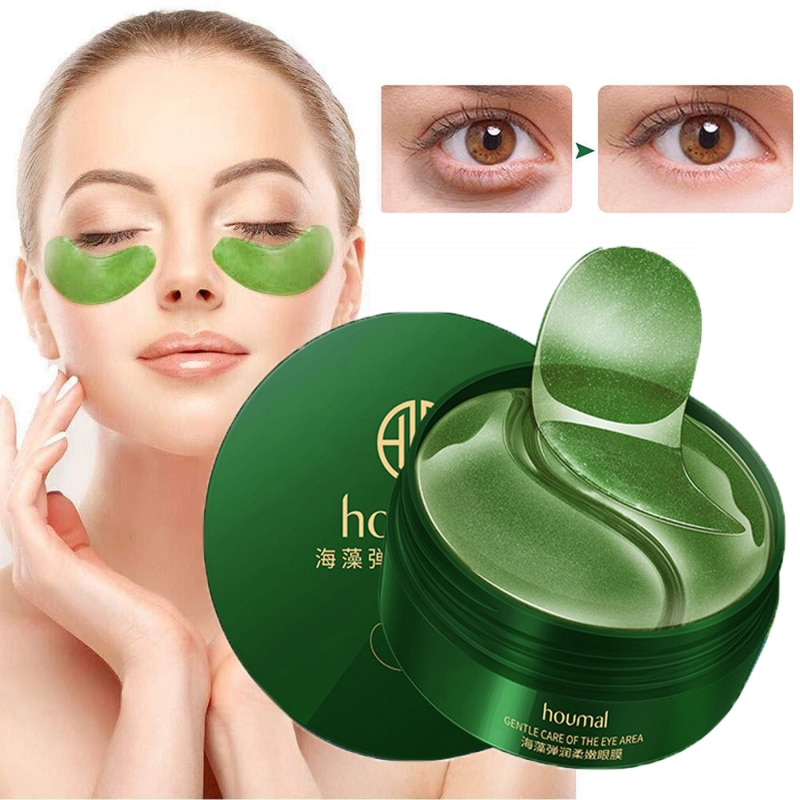 60pcs Gold Moisturizing Seaweed Crystal Collagen Eye Mask Patch Anti-Wrinkle Anti Aging Remove Dark Circles Bags Eye Care недорого