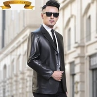 men jacket genuine leather plus size 100 real sheepskin coat spring autumn leather blazer men clothing 2021 y13 kj