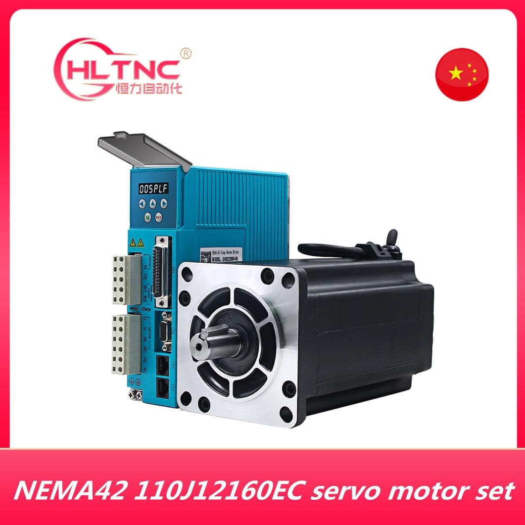 مجموعة محرك سيرفو ذو حلقة مغلقة ، NEMA42 16 نانومتر 2266ozf ، 3 مراحل ، JMC 110J12160EC-1000 3HSS2208H