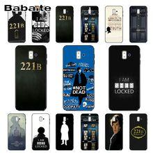 221B Sherlock Holmes TPU Soft Silicone Phone Case Cover For samsung Galaxy j6 plus A6 A8 A9 A10 A30 A50 Mobile Cover
