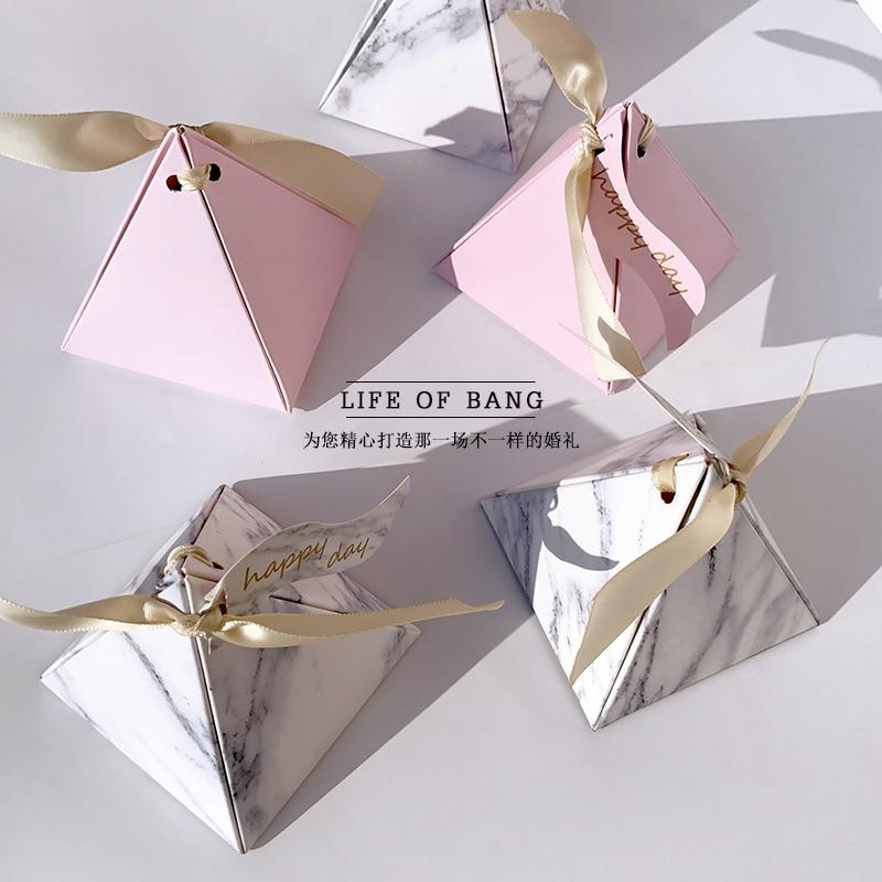 Mármol conos papel boda caja de dulces de papel de caja de...