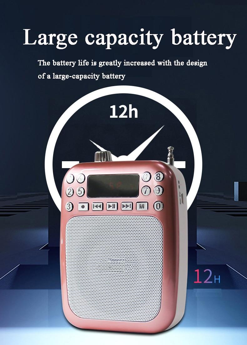 707 pequeña abeja altavoz portátil megáfono guía turística maestro específico Bluetooth altavoz soporte TF tarjeta reproductor de Audio