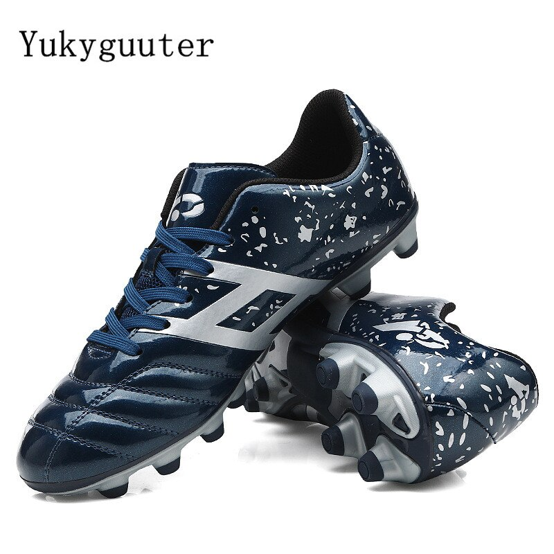 Hommes Football Football bottes chaussures de Football athlétiques nouveau cuir grande taille haut chaussures de Football formation Football Sneaker Sport