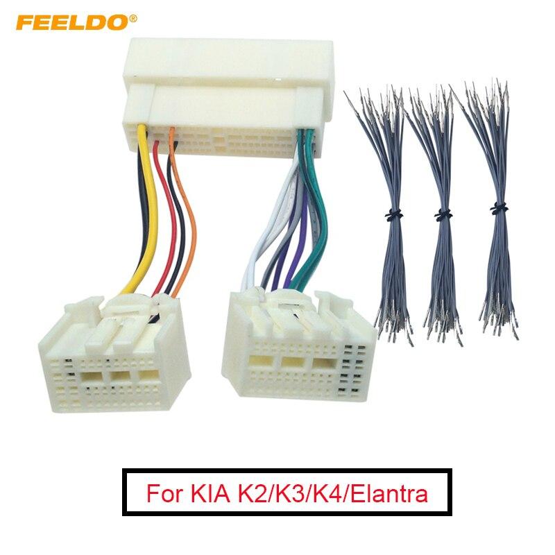 1 Pza Radio estéreo de coche 13pin + 61pin macho/hembra adaptador de arnés de cable para KIA K2/K3/K4/Elantra/Mistra/Tucson conector de cableado