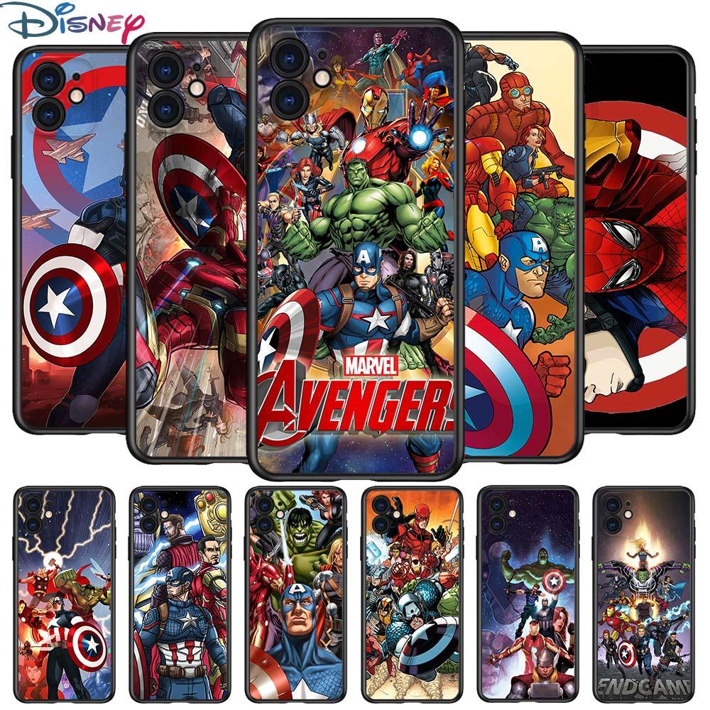 marvel-vengadores-para-apple-iphone-12-pro-max-mini-11-pro-xs-max-x-xr-6s-6-7-8-plus-5s-se2020-suave-negro-telefono-caso