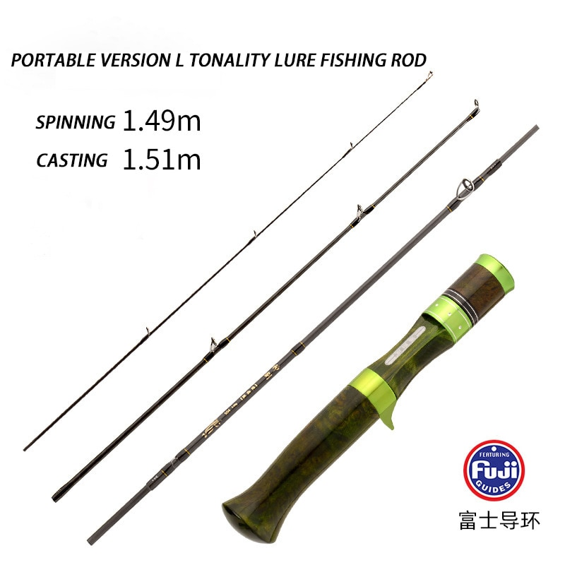 Japan Fuji  Tackle L Tones Portable Travel Rods 1.5 M Carbon Micro-rod Casting Spinning Jigging Rod Ultra Light Boat Lure Pole enlarge