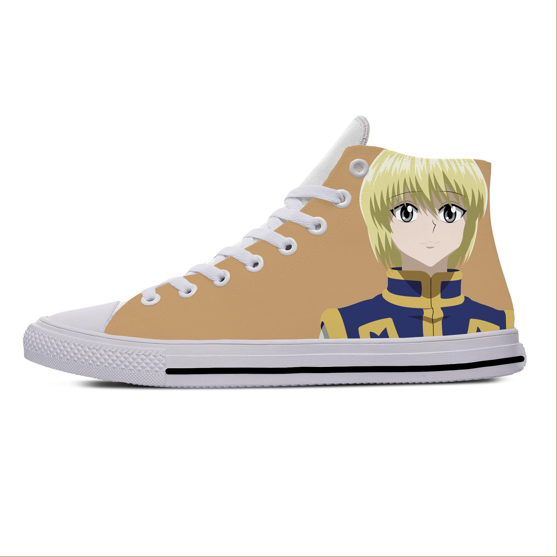 انمي ياباني مانغا Kurapika هنتر X هنتر أحذية قماشية غير رسمية عالية الجودة خفيفة الوزن تنفس ثلاثية الأبعاد طباعة الرجال النساء أحذية رياضية