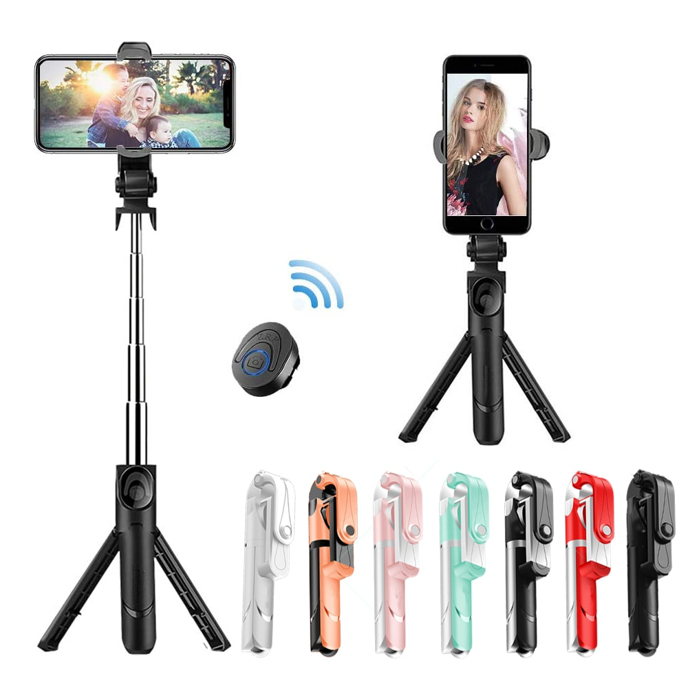 Selfie Stick with Tripod Stand Bluetooth Remote Control Mobile Phone Selfie Stick Holder for IPhone/