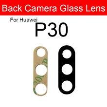 Retour Arrière Caméra Lentille Pour Huawei P30 ELE-AL00 ELE-L09 ELE-L29 Caméra Couvercle En Verre Support de Cadre Protection Module De Lentille De Remplacement