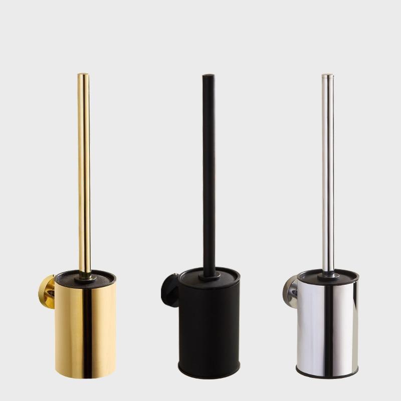 الذهب حامل فرشاة المرحاض مع فرشاة 304 الفولاذ المقاوم للصدأ النيكل/أسود الحمام المرحاض فرك تنظيف فرشاة مجموعة حامل