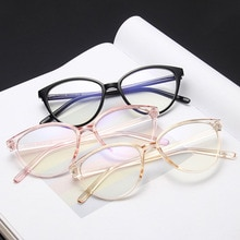 Anti Blue Light Glasses Woman 2020 Optical Glasses Man Vintage Eyeglass Computer Oculos Cat Eye Sung