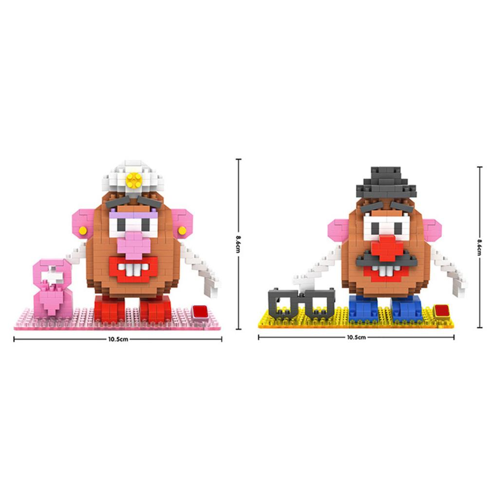 hot lepining creators classic mr potato head MS figures mini Micro diamond building blocks model bricks toys for children gift