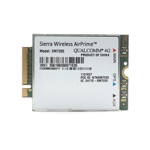 Sierra sans fil AirPrime EM7355 Gobi 5000 4G LTE Module NGFF WWAN carte pour at & t
