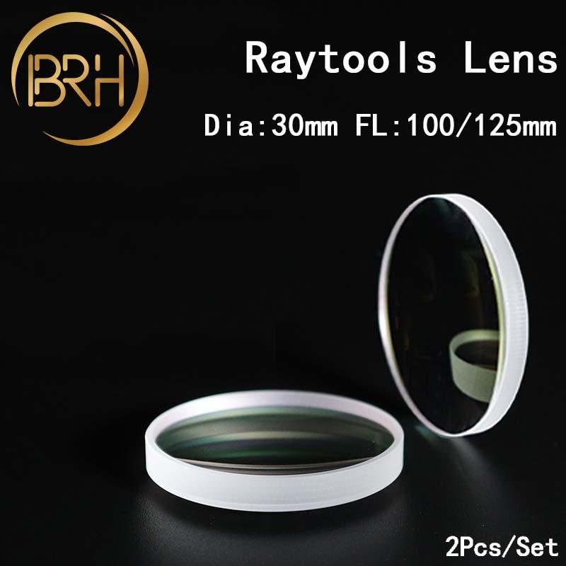 BRH hoge kwaliteit fiber laser focus lens/collimator lens D30 F100/125/150/200mm voor raytools BT240 laser snijkop