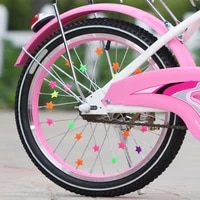 childrens bicycle spoke decoration bike accessories stars clip design colorful spoke bead set front rear wheels beautiful 2020