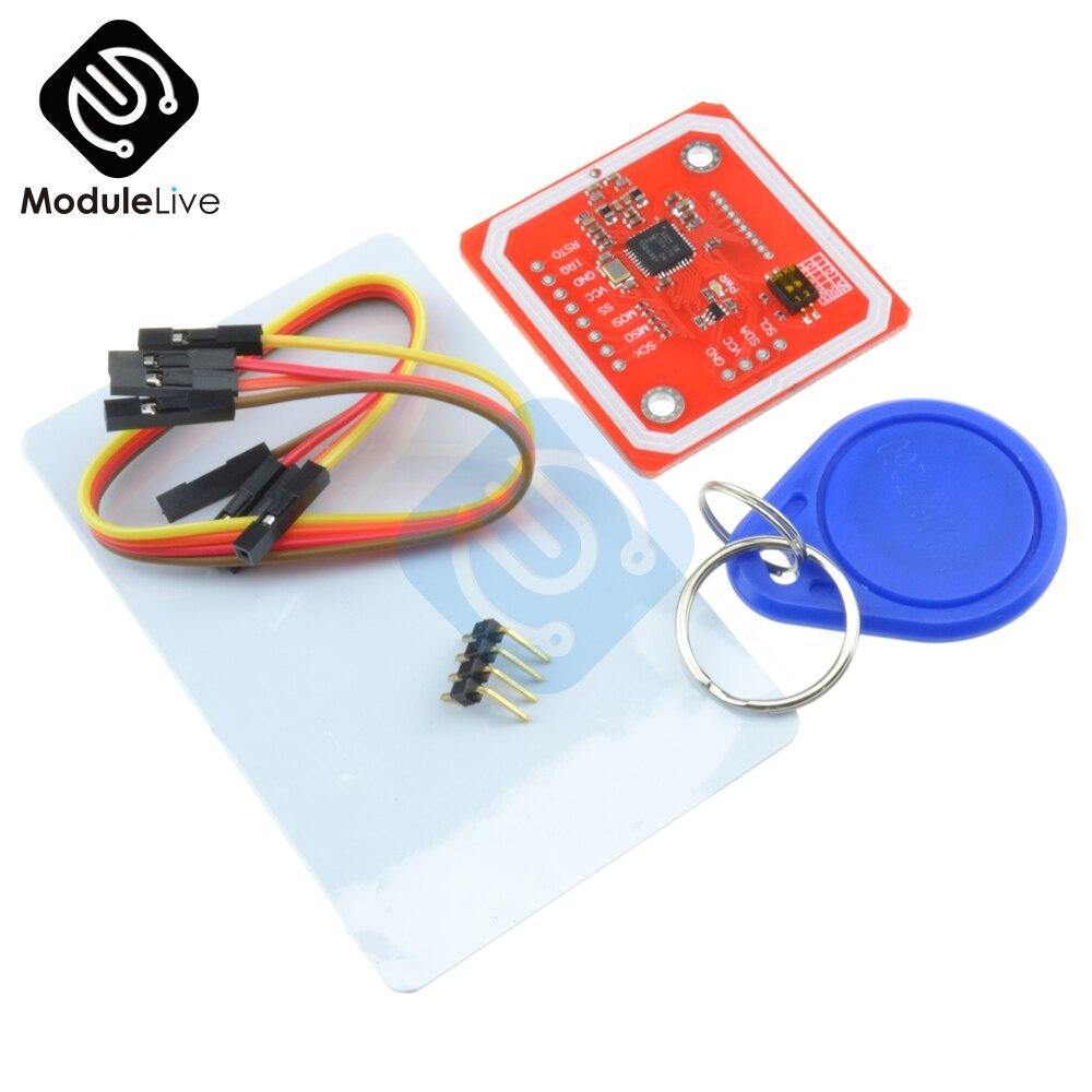1 Uds PN532 NFC RFID módulo inalámbrico V3 Kits de usuario lector escritor modo IC S50 tarjeta PCB Attenna I2C IIC SPI HSU para Arduino