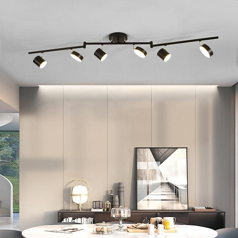 Modern Spot Rail Lamp Ceiling Spotlight Showcase Ceiling Lamp Bedroom Ceiling Adjustable Spotlights Display Case Lamps accent
