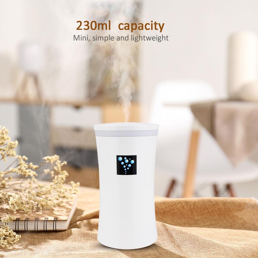 230ML Mini car diffuser Ultrasonic air Humidifier USB diffusers mist maker for Car Humidifier for home with LED lights