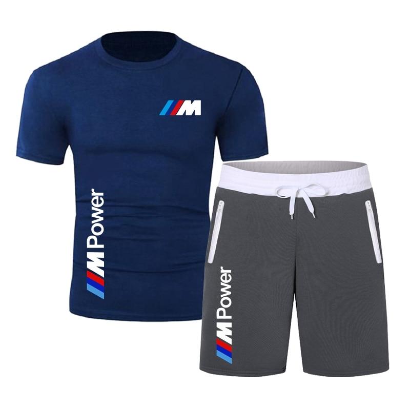 printio блокнот men s style Cotton T-Shirt + Shorts Men's Brand Suits Men's Sportswear With Casual Style Sweatshirts Summer 2021