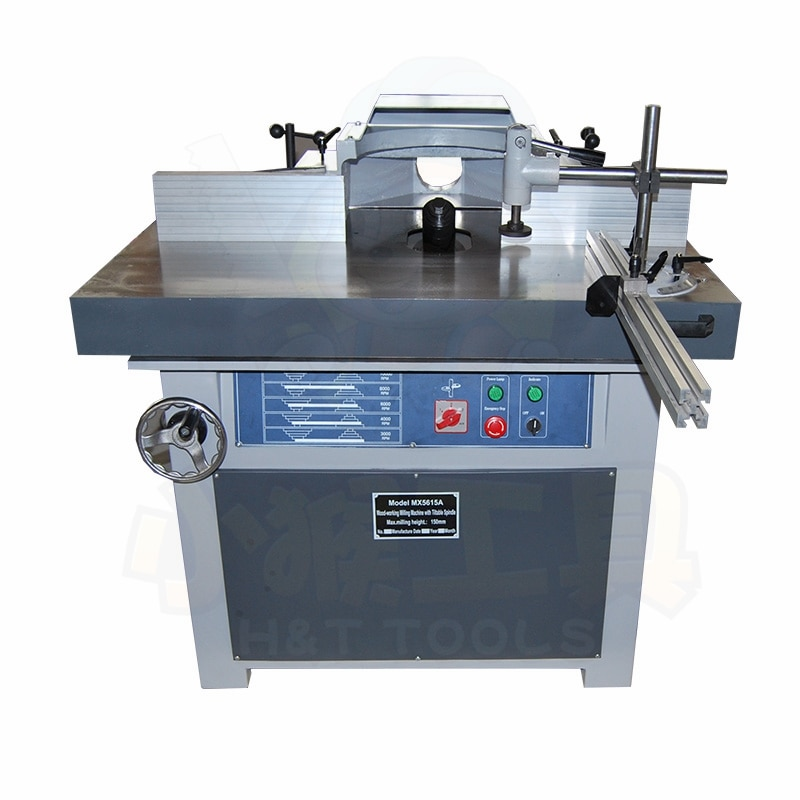 X5615A Wood shaper with tilting spindle & sliding table wood working tools sending by sea freefei520@163.com